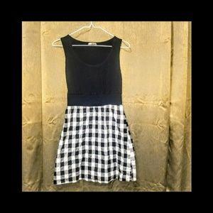 Black & White plaid mini dress
